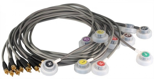 Elektrodenleitung steckbar 1,2m lang Model 93-98, 10er Satz