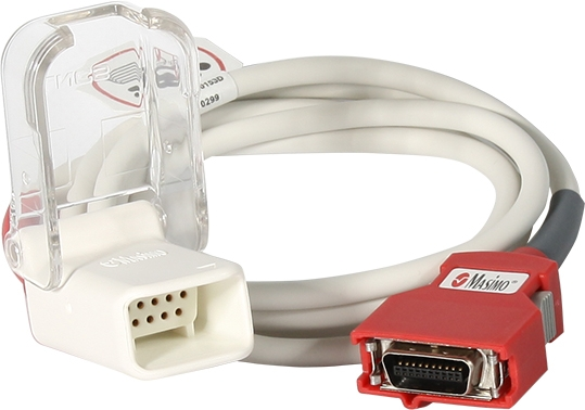 SPO2 Adapterkabel Masimo roter Stecker
