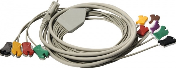 10 adriges Diagnose-EKG-Kabel für Schiller mit Klammer