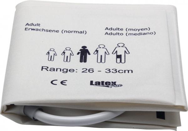 Einmal-Blutdruckmanschette Erwachsene, 26-33 cm, Zweischlauch
