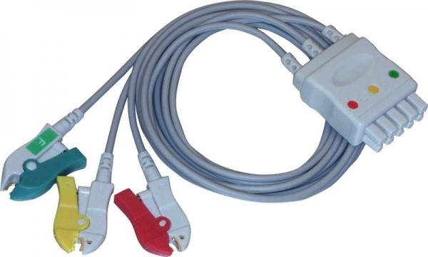 Einmalpatientenleitung 5- auf 3-adrig kompatibel zu GE