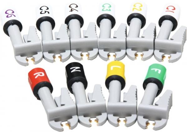 Satz Elektrodenklammern für Universalleitungen