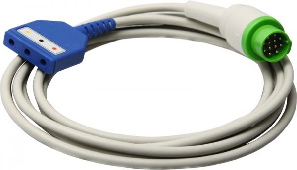3adriges Monitor-Stammkabel zu Kontron mit DIN-Weiche